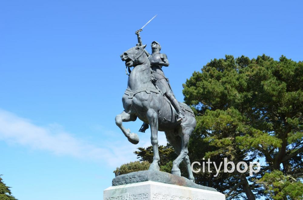 Joan of Arc statue in San Francisco
